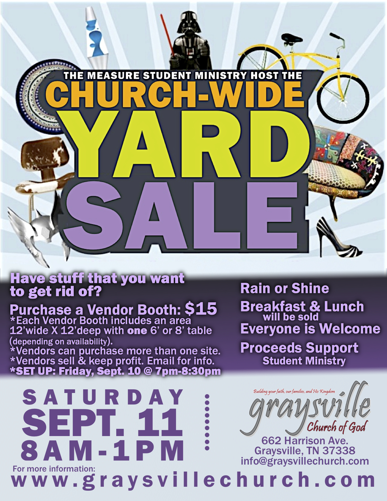 Church Wide Yard Sale Graysville Church Of God